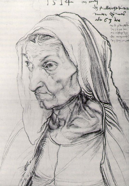 Albrecht Durer - Portrait drawing of his Mother