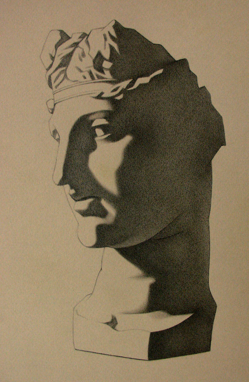Peter McClory, Ariadne (after Charles Bargue), Graphite on Canson paper, 20 x 28cm