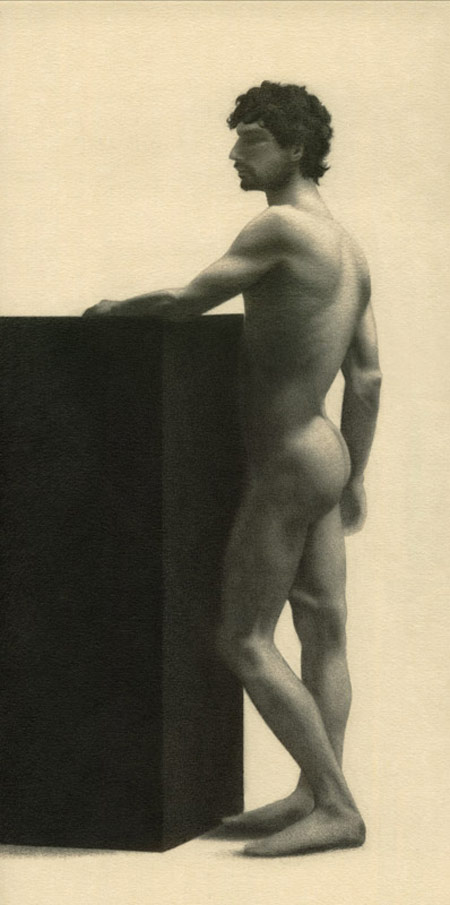 Peter McClory, Mauro Figure Study Drawing (from life), Graphite on Canson paper, 40 x 28cm