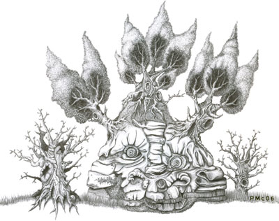 Peter McClory, Tree Creature Drawing (no.2), Graphite on Paper